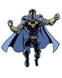 Caráter super ilustrado banda desenhada do homem incrível Imagens de Stock Royalty Free