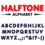 Caráter tipo de intervalo mínimo da fonte do alfabeto no formato do vetor Foto de Stock