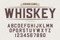 Caráter tipo retro do vintage decorativo do vetor, fonte, letras do alfabeto Foto de Stock Royalty Free