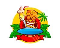 Caráter tribal da máscara dos desenhos animados engraçados Fotografia de Stock