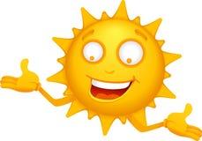 Caráteres 3 de Sun dos desenhos animados Imagens de Stock