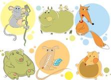 Caráteres animais ilustração royalty free