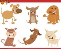 Caráteres bonitos do cão ajustados Foto de Stock