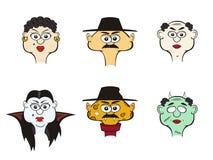 Caráteres cómicos do vetor. Povos e monstro. Imagem de Stock