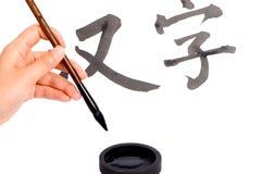 Caráteres chineses Imagem de Stock