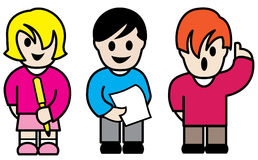 Caráteres coloridos das crianças Imagens de Stock Royalty Free