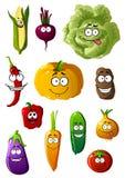 Caráteres coloridos dos vegetais com sorrisos felizes Fotografia de Stock Royalty Free