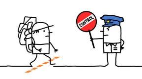 Caráteres - controle de polícia - região limítrofe ilustração royalty free