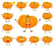 Caráteres da abóbora para o projeto de feriados do outono ilustração stock