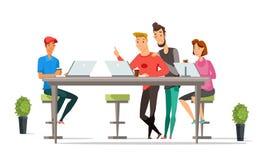 Caráteres da cor do vetor dos desenhos animados dos trabalhadores de escritório ilustração stock