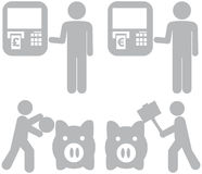 Caráteres da despesa da economia de Infographic Foto de Stock Royalty Free
