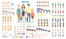 Caráteres da família ajustados ilustração royalty free