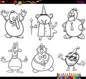 Caráteres da fantasia que colorem a página Foto de Stock Royalty Free