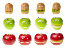 Caráteres da fruta Fotografia de Stock Royalty Free