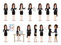 Caráteres da mulher de negócio ilustração royalty free