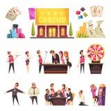 Caráteres da vida do casino ajustados ilustração stock