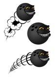 Caráteres das bolas de boliches dos desenhos animados Fotografia de Stock