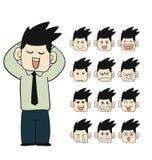 Caráteres das caras das emoções dos homens Imagens de Stock Royalty Free