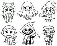 Caráteres de Dia das Bruxas Imagem de Stock Royalty Free