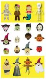 Caráteres de Dia das Bruxas em 12 variações e em mais ilustração do vetor