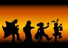 Caráteres de Halloween Fotografia de Stock Royalty Free