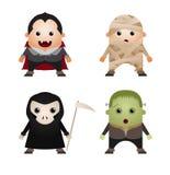 Caráteres de Halloween Imagem de Stock Royalty Free