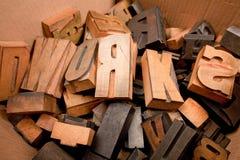 Caráteres de madeira Fotografia de Stock