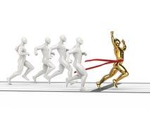 Caráteres de vencimento direitos do ouro da vista lateral Fotografia de Stock