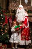 Caráteres Ded Moroz e Snegurochka do Natal do russo Imagens de Stock
