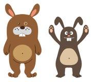 Caráteres do coelho Imagens de Stock Royalty Free