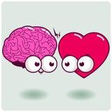 Caráteres do coração e da mente ilustração stock