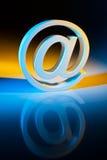 Caráteres do email. Uma comunicação em linha. Fotografia de Stock