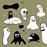 Caráteres do fantasma Fotografia de Stock