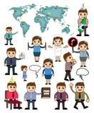 Caráteres do homem de negócios e da mulher dos desenhos animados ilustração stock