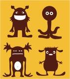 Caráteres do monstro Fotos de Stock Royalty Free