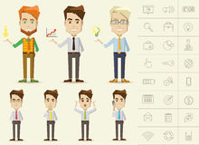 Caráteres do negócio Foto de Stock Royalty Free