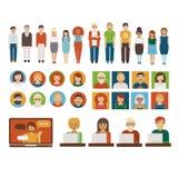 Caráteres do negócio dos povos ajustados Fotografia de Stock Royalty Free