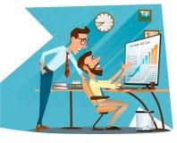 Caráteres do negócio e bom trabalho ilustração royalty free