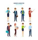 Caráteres do negócio Empregados de escritório em situações diferentes ilustração do vetor