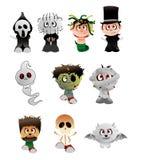 Caráteres do vetor de Halloween Fotografia de Stock