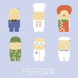 Caráteres do vetor dos desenhos animados de profissões diferentes Imagem de Stock Royalty Free