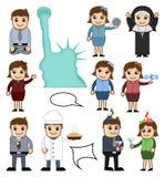 Caráteres do vetor dos povos dos desenhos animados ilustração do vetor
