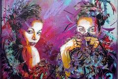 Caráteres dos grafittis Imagens de Stock Royalty Free