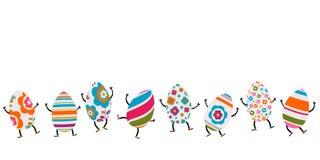 Caráteres dos ovos da páscoa Imagens de Stock