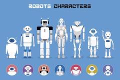 Caráteres dos robôs ilustração royalty free