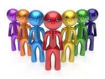 Caráteres dos trabalhos de equipa do comandante do homem de negócios da liderança ilustração stock