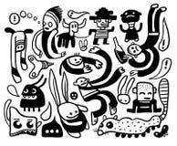 Caráteres engraçados ajustados Imagem de Stock