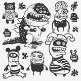 Caráteres engraçados ajustados Imagens de Stock