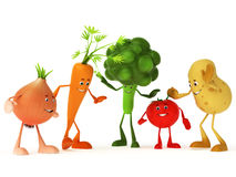 Caráteres engraçados do alimento ilustração do vetor