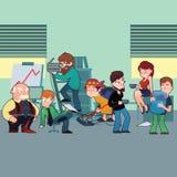 Caráteres engraçados do grupo típico do pessoal de escritório Fotos de Stock Royalty Free